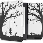 kwmobile E-Reader-Hülle, Hülle für Amazon Kindle Paperwhite - Kunstleder eReader Schutzhülle Cover Case (für Modelle bis 2017) - Mädchen Baumschaukel Design