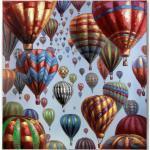 L.C. Wholesaler Ölbild Ein Himmel voller Montgolfieren, 115 x 115 cm Öl auf Leinwand