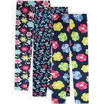 L PATTERN Kinder Mädchen 3er Pack Leggings Leggins Strumpfhose Lange Hose Leggings Dünnschnitt Hosen Frühling und Sommer - verschiedenen Muster, Sonnenblume + Schmetterling +Gardenie, 122-128