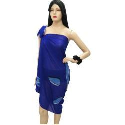 LA LEELA weichen terivoile Badeanzug und Pareo Rock Kleid Sarong 72x42 Zoll blau