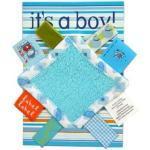 "Label-Label Grußkarte ""It's a Boy"" - blau"