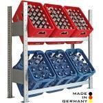 Lagerknecht® Getränkekistenregal 100 x100 cm 2 Ebenen Grundregal - Getränkeregal - Kistenregal made in Germany