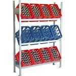 Lagerknecht® Getränkekistenregal 185 cm 130 cm 3 Ebenen Grundregal Made in Germany - Getränkeregal - Kistenregal