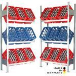 Lagerknecht® Getränkekistenregal185 cm 100 cm 3 Ebenen Grundregal Made in Germany - Getränkeregal - Kistenregal