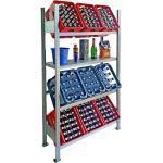 Lagerknecht® Getränkekistenregale - Getränkeregal - Kistenregal made in Germany 185 x100 cm 3 Ebenen & Regalboden