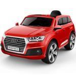 Lamas Spielzeug Audi Q7 Red Elektroauto mit Ledersitz und Fernbedienung