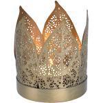 Lambert Corona Teelichthalter goldfarbig - H 8 cm, D 7 cm