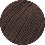 LANA GROSSA »Cool Wool Lace« Häkelwolle, (50 Gramm), Klassiker aus purer, extrafeiner Merinowolle, Mokka - 0012