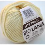 Lane Mondial 50Gramm Bio Wolle, Kol 402- gelb vanille, Bio-Wolle, Stricken, häkeln