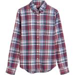 Langarmblusen D2. Faded Winter Twill Check Shirt 38