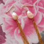 Lange Ohrringe Baumeln Perle Perlen Ohrringe Gold Kette Boho