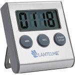 Lantelme Edelstahl Timer digital magnetisch mit Alarm Eieruhr Küchentimer Kurzzeitmesser Zeitmesser 4178
