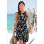 LASCANA Strandkleid, mit Ringdetail am Ausschnitt schwarz Damen Freizeitkleider Kleider Strandkleid