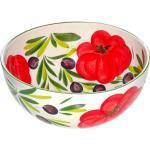 Lashuma Salatschüssel »Tomate Olive«, Keramik, große Servierschale Ø 27 cm, Runde Obstschlüssel
