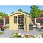 Lasita Gartenhaus Blockbohlenhaus Los Angeles Exklusiv (CA2870) 28 mm naturbelassen
