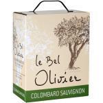 Le Bel Olivier Colombard & Sauvignon Bag-in-Box - 3,0 L - 2019 - Grands Vins du Saint Chinian - Französischer Weißwein
