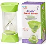 Learning Resources 93067 Jumbo, 2-Minuten gummierten weichen Endkappen, für ruhige Pausen, Klassenzimmer-Sanduhr für Kinder, Timer zum Zähneputzen und fürs Spiel (Set mit 1Stück), Multi