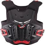 Leatt 4.5, Brustschutz für Motorrad, Unisex, Erwachsene, Schwarz/Rot, Einheitsgröße