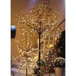 LED-Baum mit LED-Kugeln Höhe 220 cm Warm-Weiss