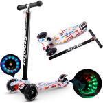 LED Kinder Roller Kinderroller Scooter Tretroller Verstellbare Höhe mit 3 Räder