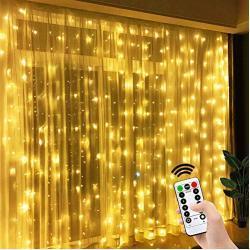 LED Lichtervorhang LED Lichterkette Vorhang 8 Modi USB Schlafzimmer Vorhang Licht wasserdicht 3mx3m 300 Leds Fenster lichtervorhang Vorhänge für Hochzeiten, Partys Garten Schlafzimmer Dekoration