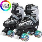 LED Rollschuhe größenverstellbar Super Quads X-Pro schwarz