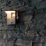 LED Wandleuchte Bonita in Anthrazit mit Bewegungsmelder 10W 600lm IP54