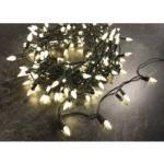 LED Zapfen Lichterkette mit 200 warmweißen LEDs