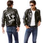 Schwarze Buttinette Grease Punker-Kostüme für Herren