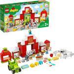 LEGO® Konstruktionsspielsteine »Scheune, Traktor und Tierpflege (10952), DUPLO® Town«, (97 St), Made in Europe
