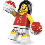 LEGO Minifiguren Serie 8 8833-12 Rote Cheerleaderin