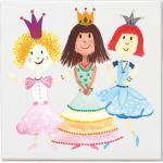 Leinwand Bild Für Kinderzimmer 20 X cm/Kunstdruck Motiv Prinzessin Auf Keilrahmen Mit 2 Dicke