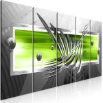 LEINWAND BILDER 3D Kugel silber Stahl Wandbilder XXL Wohnzimmer Kunstdruck 3Far