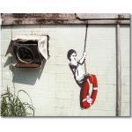"Leinwandbild ""Banksy No.4"", Kunstdruck"