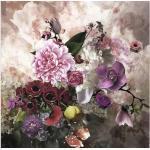 Leinwandbild Baroque Flowermix II 40x40 cm
