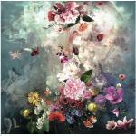 Leinwandbild Baroque Flowermix l 40x40 cm
