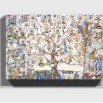 Blaue Gustav Klimt Leinwandbilder