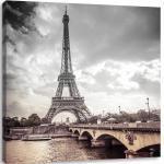 Braune Eiffelturm Bilder mit Eiffelturm-Motiv 60x40