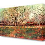 Leinwandbild Obstgarten mit blühenden Pflaumenbäumen von Vincent Van Gogh Ölgemälde