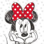 Leinwandbild, Schwarz - Weiß - 35 x 35 cm - Minnie Mouse