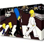 Braune Die Simpsons Leinwandbilder