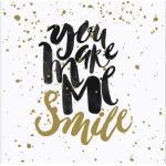 Leinwandbild Smiley 27x27 cm