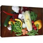 Leinwanddruck Leinwandbild verschiedene Gemüsearten Küchenbild ab 40 x 30 cm