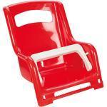 Lena 61168 Sitz für Puppen, ca. 27 cm, 1 farblich sortiertes Fach, Puppensitz für die Gepäckablage von Kinderfahrrädern, Gepäckträgersitz für die Lieblingspuppe kleiner Puppenmütter, rot oder gelb