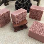 Leoie DTY Handgemachte Seife Form Werkzeug Doppeltür Holzbox und Rosenfigur Silikonform
