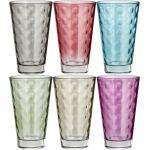 LEONARDO Gläser groß, 6er-Set Optic ¦ mehrfarbig ¦ Glas