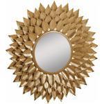 Leonique Spiegel Sarai, mit Blattgold-Finish goldfarben Dekospiegel Garderoben