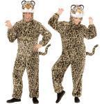 Leoparden Plüschkostüm unisex - braun/beige