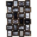 Levandeo® Bilderrahmen Collage, Bilderrahmen Schwarz Kupfer 24 Fotos 10x15cm Barock Fotorahmen Collage Galerie