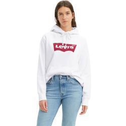 Levis Damen Kapuzensweatshirt Logo Sport in Weiß